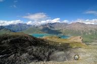vista del lago del Moncenisio dal forte Malamot