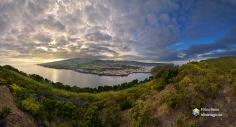 Panoramica di Horta dal monte da Guia